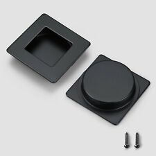 Black Flush Pull Sliding Closet Door Finger Pull Recessed Kitchen Cabinet Handle