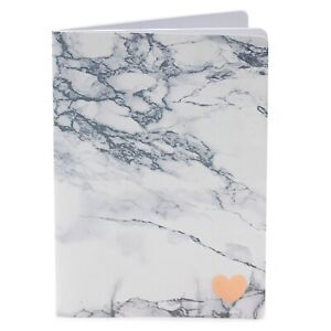 18x25cm White Lined Marble Notebook Notepad Writing Journal Pad Girls Woman's