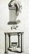 Altare Sacrificio Ariete Religione Roma - Montfaucon Antico - Incisione XVIII
