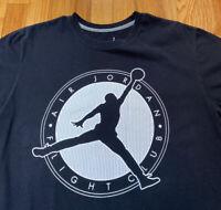 Nike Air Jordan Flight Club Black Short Sleeve T Shirt Used Men's Size Large