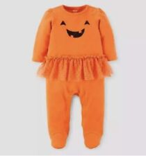 Pumpkin Tutu Long Sleeve Sleep Play Halloween Pajamas Infant Girls 9 Months