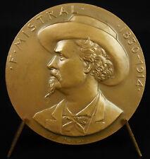 Médaille Frédéric Mistral lexicograph langue d'oc Félibrige Mirèio cigale insect