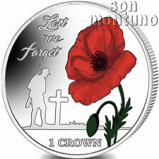 LEST WE FORGET 35th Anniv Falklands Liberation 2017 Sterling Silver Coin w/COLOR