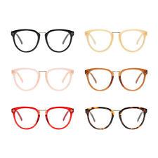 Oval Plastic Frame Retro Non-prescription Eyewear Clear Lens Glasses Eyeglasses