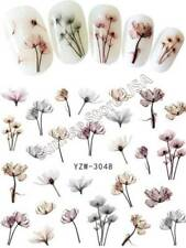 Nail Art Water Transfer Sticker YZW-3048 Ink Flower Floral Decals Manicure