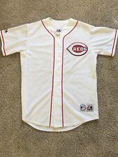 Cincinnati Reds Bronson Arroyo Mlb White Authentic Sewn Baseball Jersey Medium