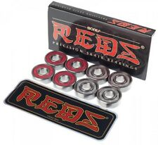 BONES REDS SKATEBOARD BEARINGS - SET OF 8 - SUPER FAST LONG LAST - FREE SHIPPING