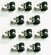 10x 5mm Stainless Steel Rubber Lined P Clips For 3/16