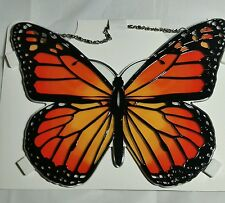 joan baker stained glass,  MONARCH BUTTERFLY sun catcher 9x8 with holes