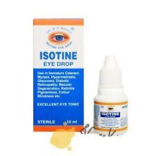 Isotine Eye Drop Cataract Color Blindness Myopia Hypermetropia more 10 ml Bottle
