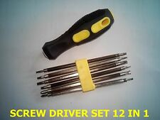 SCREW DRIVER GRIP HANDLE SET 12 IN 1