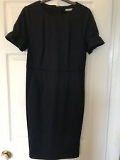 Navy Blue Dress (with Small White Dots) Flattering Waistline by TU Woman Size 12