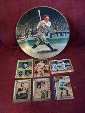 """BABE RUTH"" Limited Edition MEMORABILIA: ""COLLECTOR"" PLATE and ""BASEBALL CARDS"""