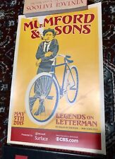 Mumford & Sons Legends on Letterman NYC Poster -11x17
