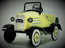 1930s Pedal Car Ford A Yellow Hot T Rod Rare Vintage Sport MidgetMetal Model
