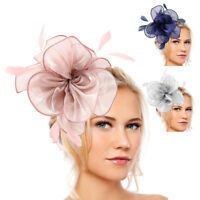Feather Flower Fascinator Headband Hair Accessories Ladies Race Royal Ascot UK