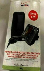 Power & Protection Package Shell/Holster, Charger & Anti-Glare for HTC Rezound
