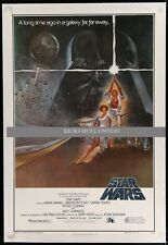 Original STAR WARS Rare 1982 27x41 1 sheet video poster LINENBACKED!