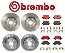 For Toyota Solara Brembo Front & Rear Brake Kit Coated Disc Rotors Ceramic Pads