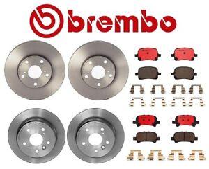 For Toyota Solara Brembo Front & Rear Brake Kit Coated Disc Rotors Ceramic Pads