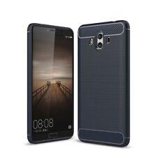 Huawei Mate 10 Funda para Móvil Carcasa TPU Fibra de Carbono Protección Cover