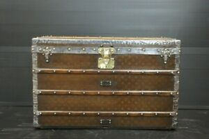 Beautiful Antique Louis Vuitton Monogram Steamer Trunk Circa 1890s