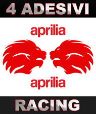 4 grandi Adesivi APRILIA LION big stickers Moto GP  tuning racing vari colori