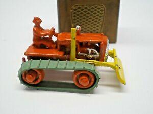 Benbros T.V. Series  #10 orange & yellow Bulldozer Boxed 1950's L@@K!