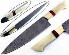 2 pcs High Quality Hand forged Damascus Steel Chef Knives bone Handle