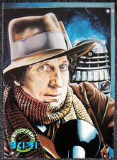 DOCTOR WHO POSTER . TOM BAKER & DALEK - ILLUSTRATION BY JEFF CUMMINS . 6G