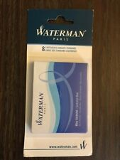 Waterman Fountain Pen Refills - Blue 8 Cartridges 1 Pack