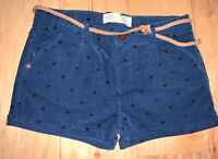 ZARA BABY GIRLS BLUE STAR LIGHT WEIGHT CORDUROY SHORTS SIZE 2T EXCELLENT CON LD5