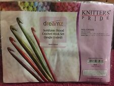 Knitters Pride Dreamz Symfonie Wood Crochet Hook Set Single Ended