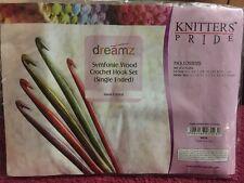 Knitters Pride Dreamz Symfonie Wood Crochet Hook Set Single Ended
