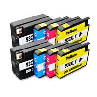 8 Ink Cartridge NON-OEM for HP 932XL 933XL Officejet 6100 6600 6700 7110 7610