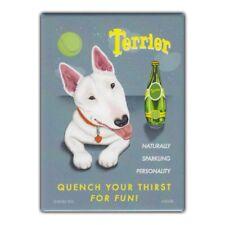 Retro Pets Refrigerator Magnet - Terrier Sparkling Water, Bull Terrier