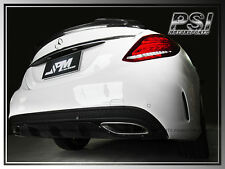 C63 Style Gloss Black Rear Bumper Diffuser Cover For M-Benz W205 C-Class w/AMG