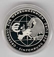 Duitsland 10 euro 2002 F Proof zilver PP: Einfuhrung des Euro