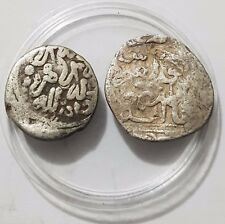 Saadian Two Rare Islamic Hammered Silver Coins Ancient Collection Lot Fes & 990H