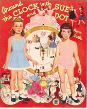 Vintage Uncut 1950S Rock Around Clock Paper Dolls Hd Laser Reproduction~Lo Pr