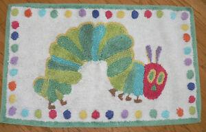POTTERY BARN KIDS Eric Carle Very Hungry Caterpillar Bathmat/Mat Rug Rainbow