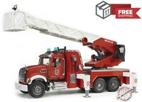 Fire Engine Truck With Water Pump Bruder Mack Granite Toy Ships Free Brand NEW