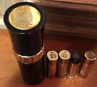 Vtg Lanvin Perfume & Automizer Large (1) & (4) Purse Size Perfume Dispensers LOT