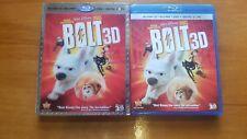 Bolt (Blu-ray/DVD, 2011, 3-Disc Set,3D)RARE OOP LENTICULAR SLIPCOVER NO DIGITAL