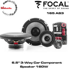 "Focal 165AS3 - 16.5cm 6.5"" 3-Way Car Component Speakers 160W Door Speakers"