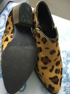 Leopard Print Womens Shoe Boots