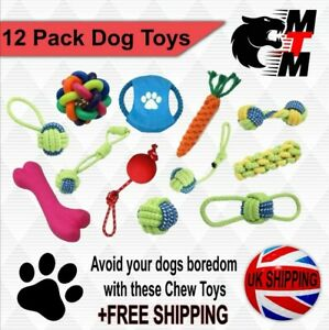 12 Pack Dog Toys Avoiding Dogs Boredom Anxiety Dog Chew Toys Dogs Puppy Toys Dog