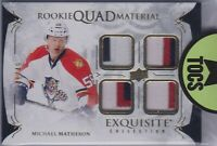 Michael Matheson 2016-17 Exquisite Collection Rookie Quad Material Patches 46/49