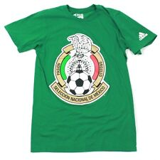 Adidas GO-TO Tee Adult Small MEXICO Soccer T-shirt Green Short Sleeve 3 Stripe S