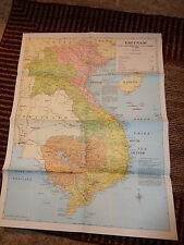Original Map South Vietnam War and Indo China 1968 Military Vietnam War Conflict